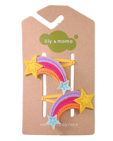 Lily & Momo Hair Clips - Rainbow - E + ME