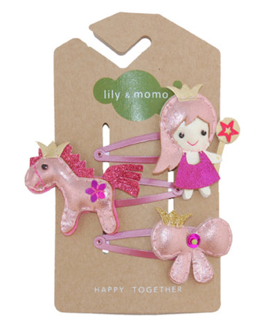 Lily & Momo Hair Clips - Princess Trio - E + ME