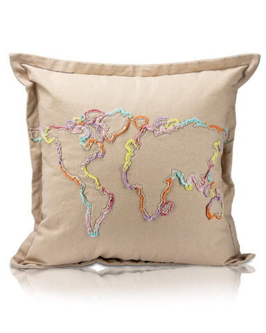Lil' Pyar Khoja Map Pillow - E + ME - 1