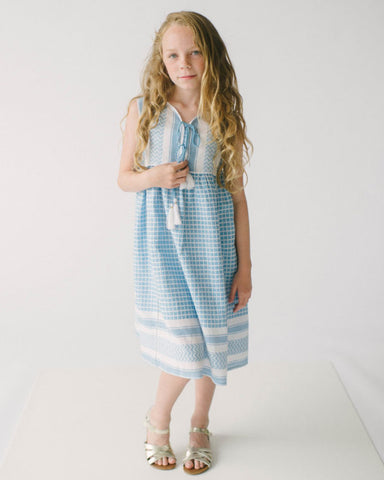 Lali Blue Yarn Midi Dress