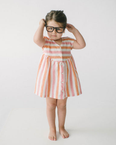 Lali Pink & Orange Stripe Camellia Dress