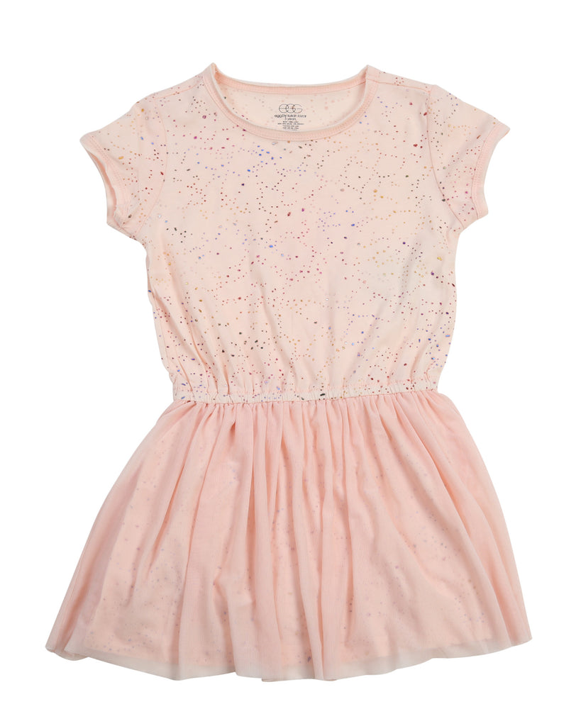 Egg By Susan Lazar Jersey Tulle Combo Dress - Pink - E + ME - 1