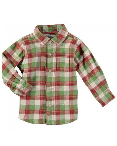Rockin' Baby Brushed Cotton Check Shirt - E + ME - 1