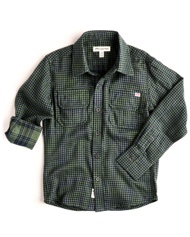 Appaman Mason Shirt - Four Leaf Gingham - E + ME