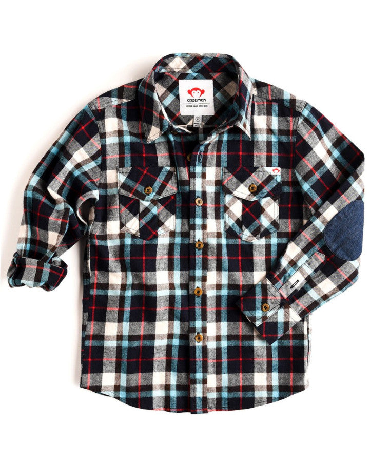 Appaman Flannel Shirt - Seaport Plaid - E + ME