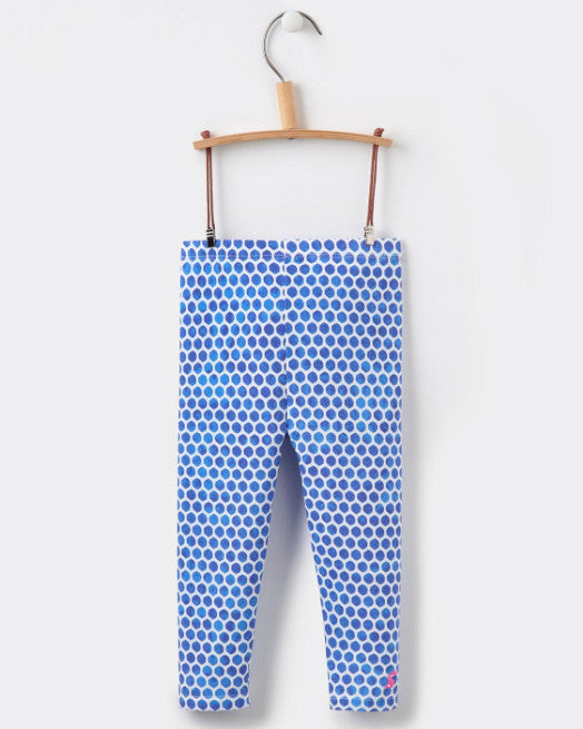 Joules Baby Girl Printed Legging - Pool Blue Spot