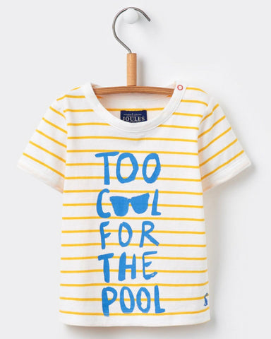 Joules Baby Yellow Stripe 'Pool' Tee