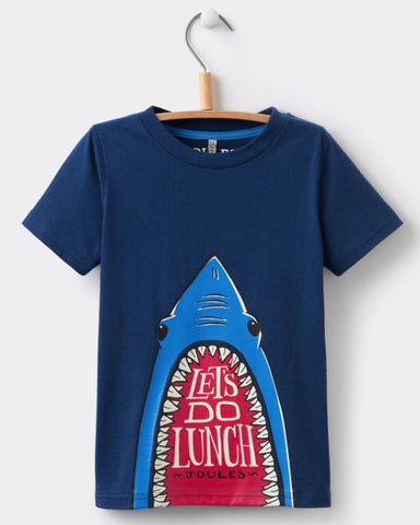 Joules Boy Glow-in-the-Dark Navy Shark Tee