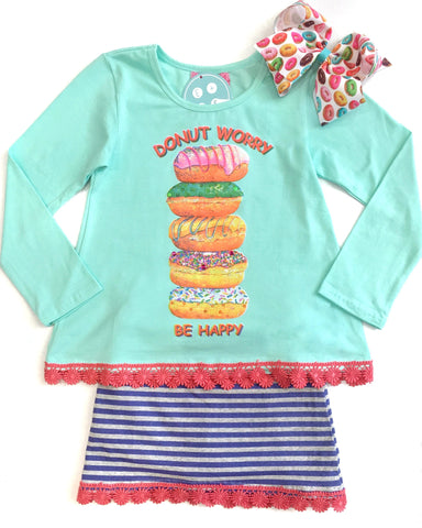 Haven Girl Donut Tunic & Striped Skort Set - E + ME