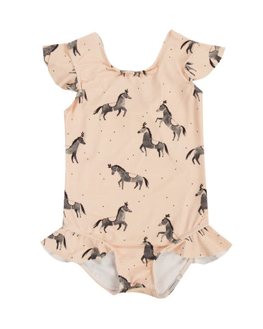 Rylee & Cru Circus Horses One-Piece Swimsuit