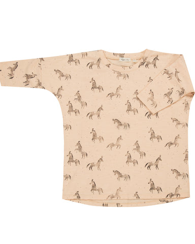 Rylee & Cru Circus Horse Slouch Dress - Blush