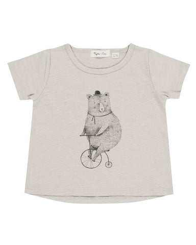Rylee & Cru Cycling Bear Basic Tee - Cloud