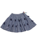 Pink Chicken Allie Skirt - Chambray - E + ME - 1