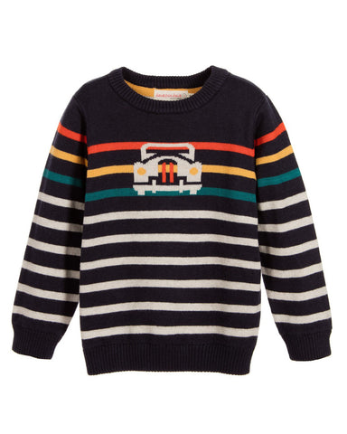 Deux Par Deux Retro Car Knit Sweater - E + ME - 1