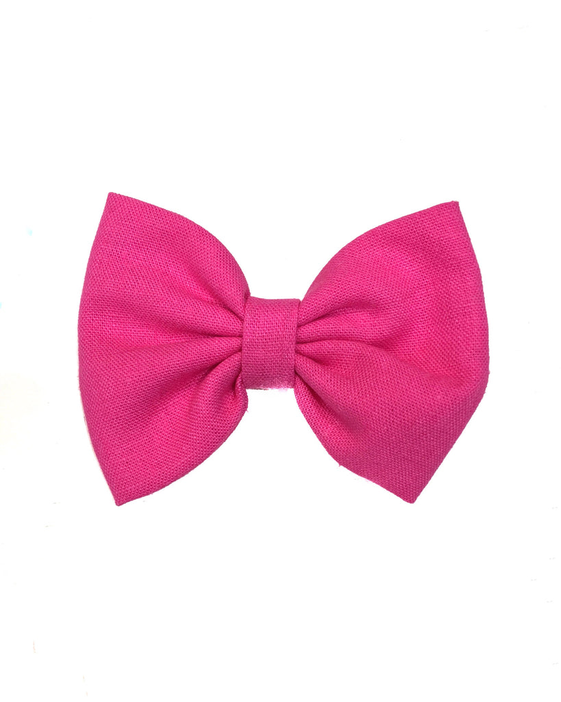 Solid Pink (bow & headband) - E + ME
