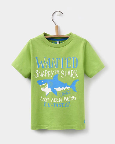 Joules Ben Green Shark T-Shirt - E + ME