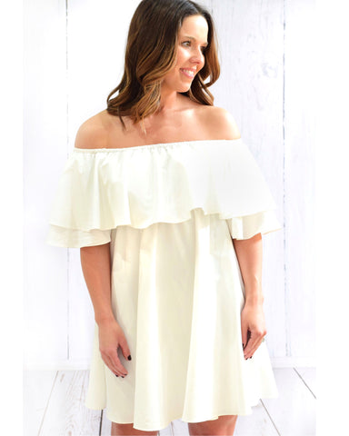 Buddy Love Maddox White Off The Shoulder Dress