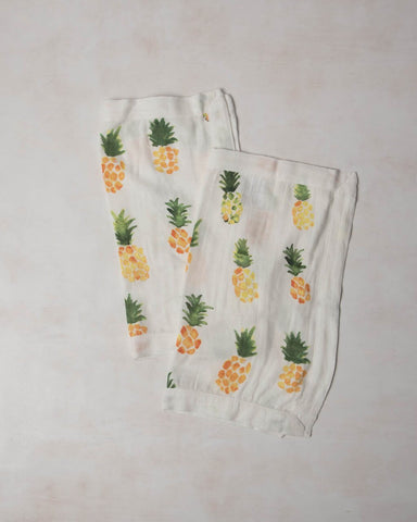 Deluxe Muslin Security Blanket - Pineapple - E + ME