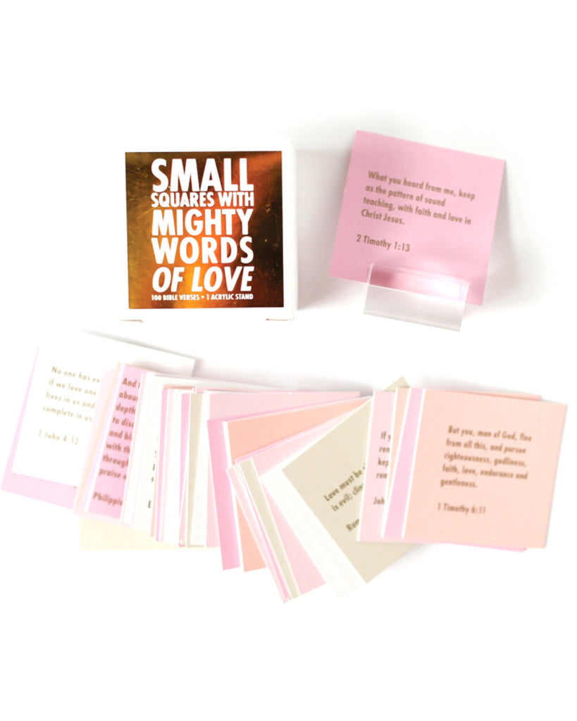 Small Squares With Mighty Words Of Love