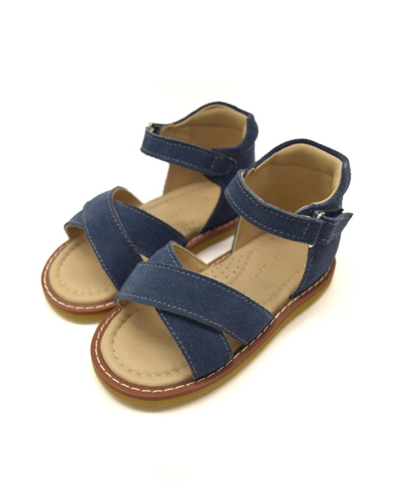 Elephantito Amy Crossed Sandal - Dusty Blue