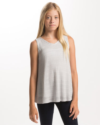 PPLA Girls Grey Kinley Top
