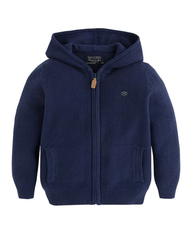 Mayoral Boy Navy Zip Sweater - E + ME - 1