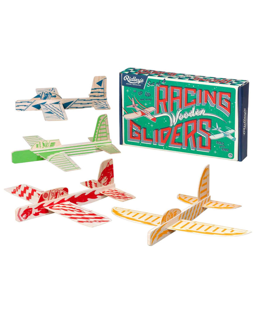 Set of 4 Wooden Gliders - E + ME