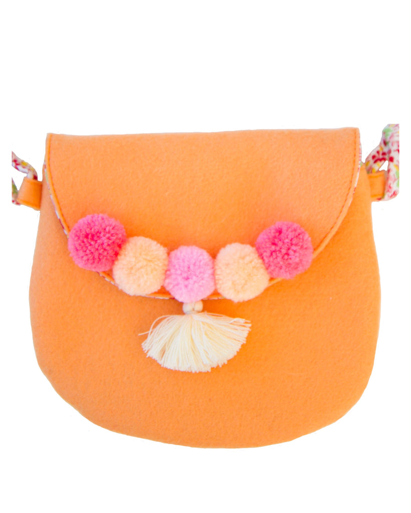 Peach Pom-Pom Purse