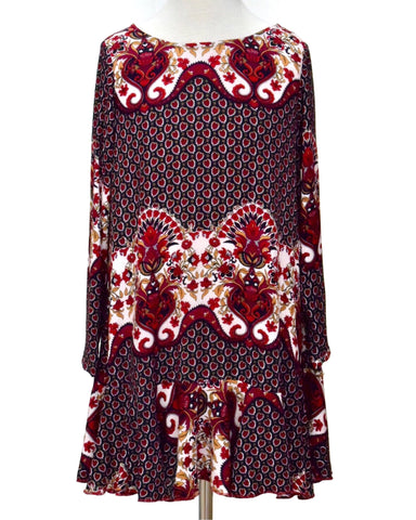 Tru Luv Scarlett Print Swing Dress - E + ME - 1