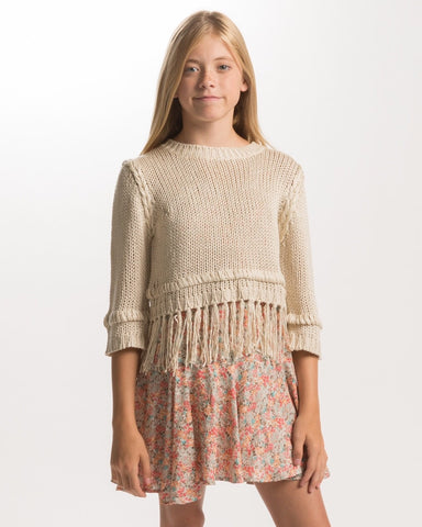 PPLA Girls 7-16 Gaia Crop Sweater - E + ME - 1
