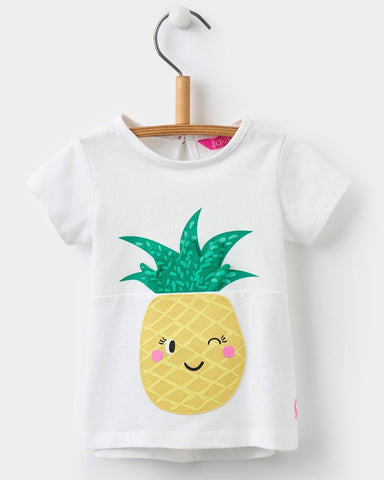 Joules Pineapple Applique Jersey Top