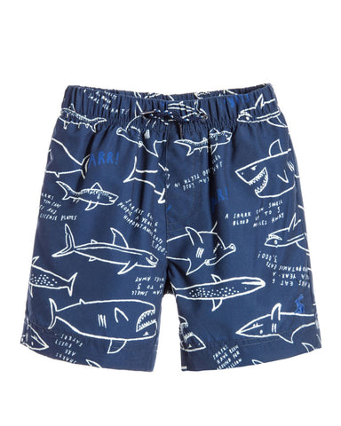 Joules Boy Navy Shark Swim Trunks