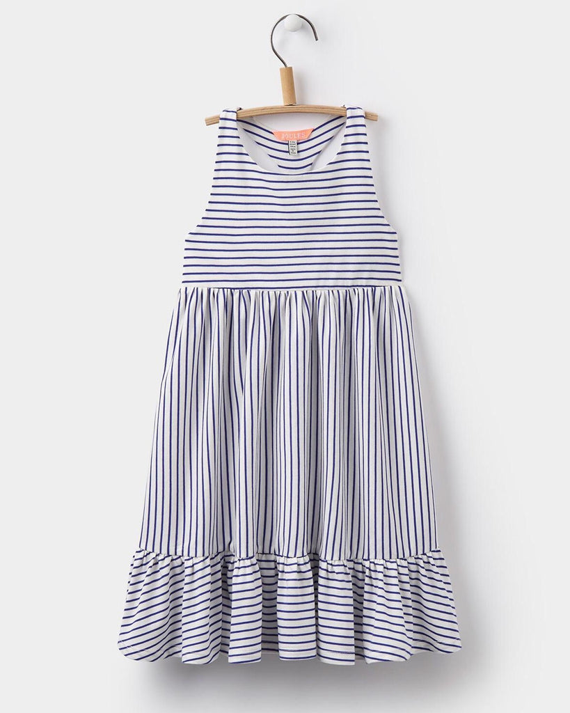 Joules Navy & White Stripe Racerback Dress