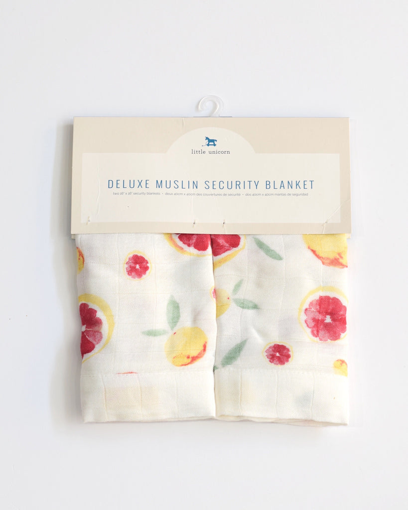 Little Unicorn Deluxe Security Blankets - Grapefruit