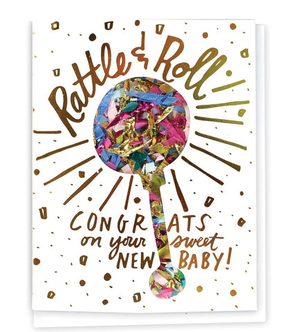Confetti Card - New Baby - E + ME - 1