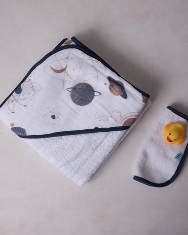 Little Unicorn Hooded Towel Set - Planetary - E + ME