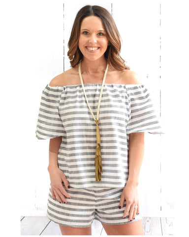 Buddy Love Jailbird Off The Shoulder Top
