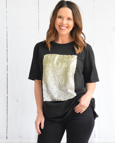Ombré Sequin Square Tee