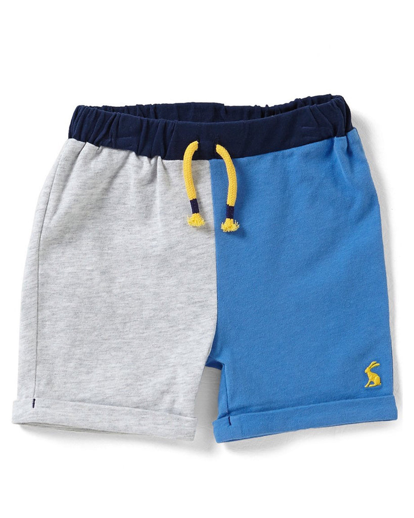 Joules Baby Grey & Blue Jersey Shorts