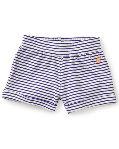 Joules Pool Blue Jersey Striped Shorts