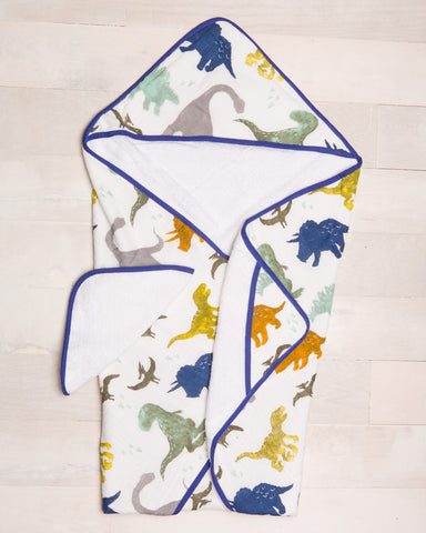 Little Unicorn Hooded Towel Set - Dino Friends - E + ME - 1