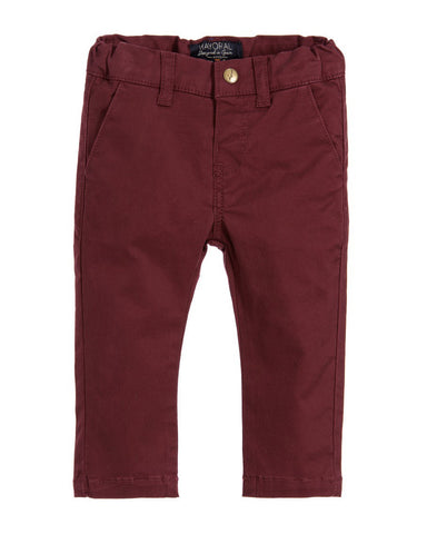 Mayoral Boy Regular Fit Chinos - Burgundy - E + ME - 1