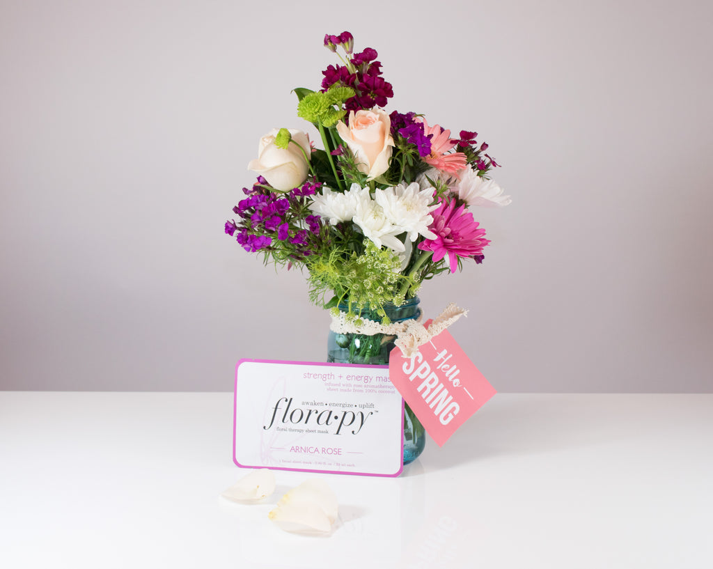 Diy Sweetly Simple Aromatherapy Flower Arrangement Florapy Beauty