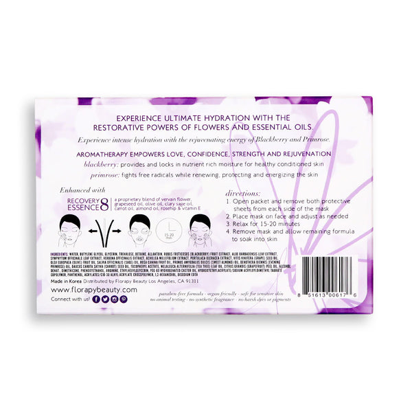 Deep Hydration Aromatherapy Sheet Mask, Blackberry Primrose, 5 Count