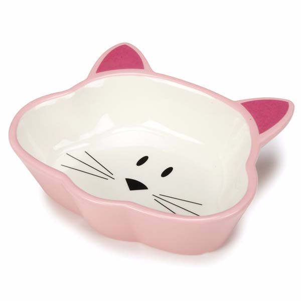 ceramic cat dish pink by cat is good the paws land - Cat Bowls
