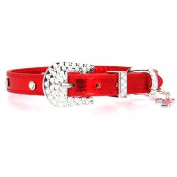 Buy Christmas Dog Collar with Candy Cane - Metallic Red at The Paws ...