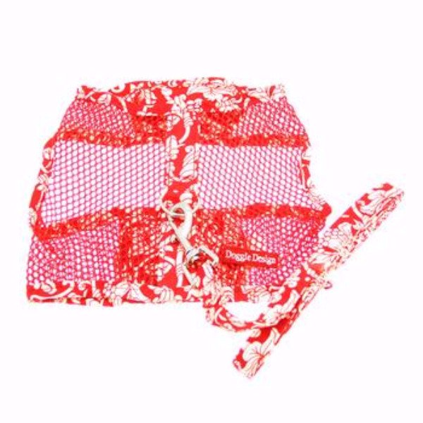 59650cad72fe Buy Cool Mesh Harness Hawaiian Hibiscus - Red by Doggie Design, Inc ...