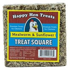 Happy Hen Mealworm Sunflower Treat Square