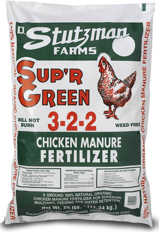 Chicken Manure Sup'r Green 25lb