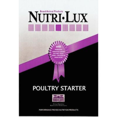 Nutri Lux Turkey & Broiler Starter 40lb Blue Tag